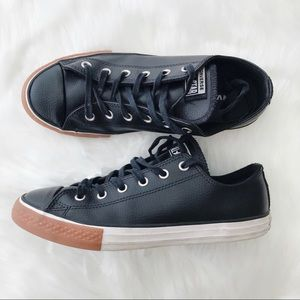 Converse  All Star Black Leather Ox